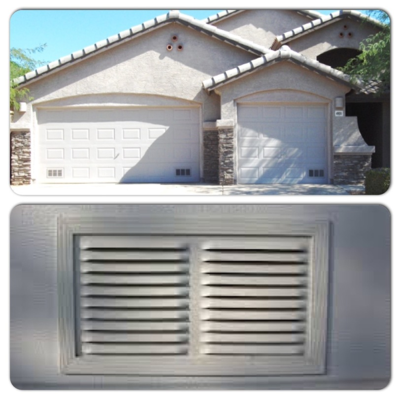Vents in Garage Door.